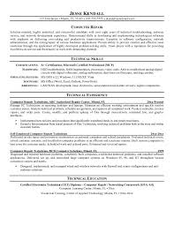 it desktop support resume objective technician technician career desktop support resume sample