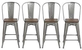 industrial vintage rustic retro swivel counter bar stool