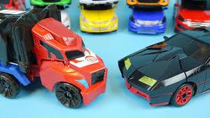 Transformers <b>car toys</b> - black CarBot & Optimus Prime <b>transforming</b> ...