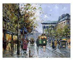 European <b>City</b> Paint by Number Kit, Landscape Street Tram DIY Kit ...