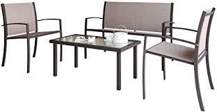 <b>Garden</b> Furniture <b>Set</b>, Indoor Outdoor <b>4 Piece set</b> Patio Furniture ...