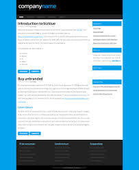 bizblue html5 and css website template web templates bizblue css template by zypop