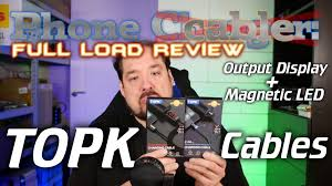 Full Load Review: <b>TOPK Magnetic</b> LED and Built-in Amp/Voltage ...