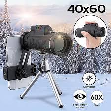 <b>40x60</b> Focus <b>Zoom HD</b> Lens Monocular Telescope Tripod <b>Mobile</b> ...