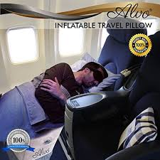 <b>Inflatable Foot</b> Rest <b>Travel</b> Pillow By ALVO Comfy Adjustable ...