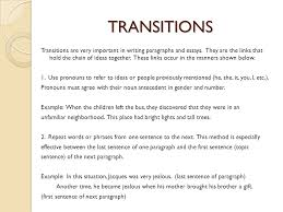 expository essay expository essay sophomore essay   choose one of    transitions transitions are very important in writing paragraphs and essays  they are the links that