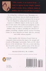 montaigne essays michel de montaigne john m cohen montaigne essays michel de montaigne john m cohen 9780140178975 amazon com books