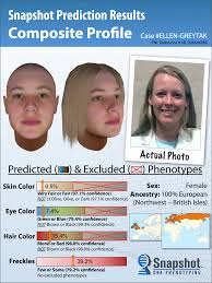 scientists can construct a mugshot using just dna an example of a dna generated face from snapshot credit parabon nanolabs