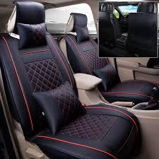 Automotive 5-Seats Full Front+<b>Rear Cushion</b> W/<b>Pillow</b> PU Leather ...