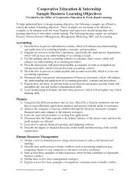 sample resume and objectives
