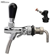 Draft Beer Faucet, Adjustable <b>Beer Tap Faucet with</b> Flow Controller ...