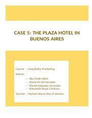 essay sustainability   mktgdocx   hospitality marketing sustainabil  pages caso  the plaza hoteldocx