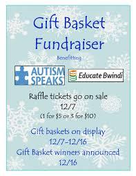 giving tree gift basket fundraiser black bear academy raffle basket flyer 2015