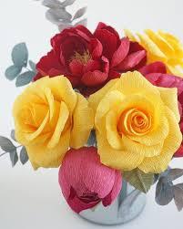 Paper bouquet - Paper <b>florist</b> - Paper craft - Crepe paper <b>flower</b>