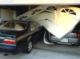 Image result for carashed garage door
