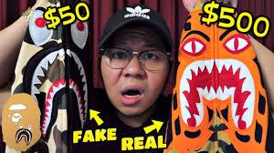 $500 <b>BAPE HOODIE</b> VS $50 <b>BAPE HOODIE</b>!! (REAL VS FAKE ...