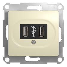 GSL000232 - <b>USB розетка</b> - 5 В постоянный ток - <b>Schneider Electric</b>