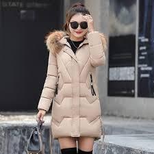 Hooded <b>Winter Down</b> Coat Jacket Thick <b>Warm</b> Slim Women Casaco ...
