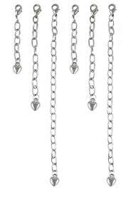 Necklace Bracelet Extender Set - Silver Tone (6pcs ... - Amazon.com