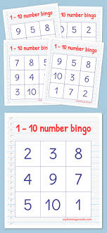 best ideas about number numbers preschool printable bingo cards numbers 1 10