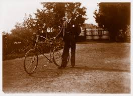 greensborough yallambie harry wragge his diamond frame safety bicycle photographed near the front
