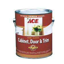 Water Resistant Kitchen Cabinets Ace Cabinet Door Trim Semi Gloss Alkyd Enamel Paint Gallon