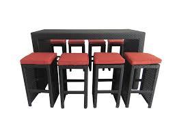 wicker bar height dining table: kontiki dining sets wicker bar sets amp balcony height polynesian sun  piece bar set