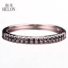 <b>HELON</b> Solid 10K Rose Gold Engagement <b>Wedding Ring</b> Round ...