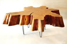 wood tree trunk coffee table cool spa12 awesome tree trunk table 1