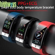 <b>E66</b> Smart Band PPG ECG Body Temperature Heart Rate Monitor ...