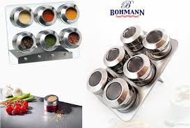 набор для специй bohmann стеклянный