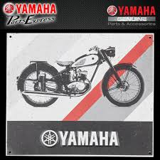 NEW YAMAHA YA-<b>1 TIN</b> SIGN BLACK GREY RED VINTAGE YA-<b>1</b> ...