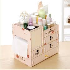<b>Multi</b> Drawers Wooden Large Capacity <b>Makeup Organizer Cosmetic</b> ...