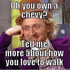 chevy hate - quickmeme via Relatably.com