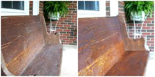 church pew before and after antique furniture cleaner