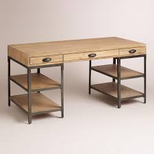 wood and metal teagan desk home office awesome pine desks home office