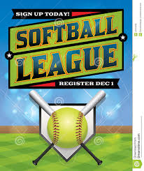 softball league registration illustration stock vector image softball league registration illustration