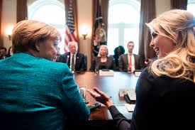 Image result for images of ivanka, merkel and trump