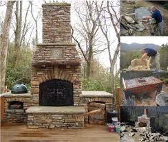 outdoor fireplace design ideas stone materials