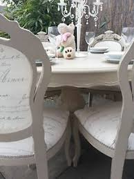 beautiful and absolutely stunning french style shabby chic ornate table with 6 louis chairs painted chic shabby french style distressed white