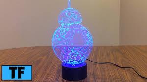 <b>Star Wars 3D</b> Illusion <b>LED</b> BB8 Night Light Lamp Room Desk ...