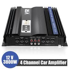 Professional 3800 Watt RMS <b>4</b> CH Channel Powerful <b>Super Loud</b> ...