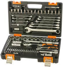 <b>Набор инструментов</b> 1/2, 1/4 дюйма, CrV, пластиковый кейс <b>82</b> ...