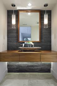 1000 ideas about stone accent walls on pinterest accent walls stone veneer and copper ceiling bathroom vanity barnwood mirror oyster pendant lights