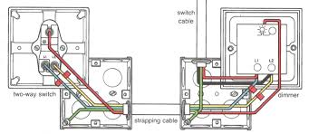 wiring light switch or dimmer two way switch wiring diagram