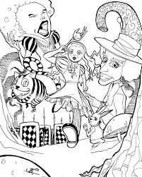 Small Picture Alice In Wonderland Coloring Pages Online Coloring Coloring Pages