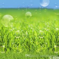 Green Grass&Soap Bubbles <b>5x7ft Vinyl Photography</b> Backdrops ...