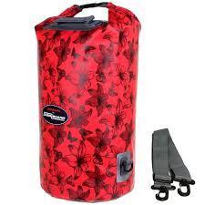 US1005R-Flowers красный женский рюкзак <b>гермомешок</b>
