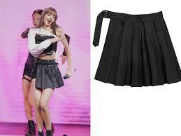 kpop Korean Celebrity Gothic wind Split ends loose pleated skirt ...