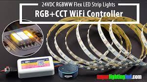<b>RGB</b>+<b>CCT</b> 5in1 24VDC LED Strip Lights Works With WiFi RGBWW ...